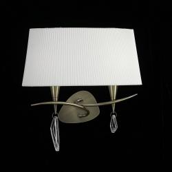 Mara Wall Lamp Doble 38cm 2xE14 20w leather white