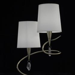 Mara Table Lamp Doble 51cm 2xE14 20w leather/white