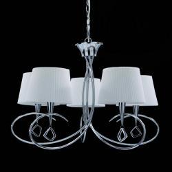 Mara Pendelleuchte 5 lampenschirme 5xE14 20w Chrom/weiß