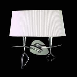 Mara Wall Lamp Doble 38cm 2xE14 20w Chrome white