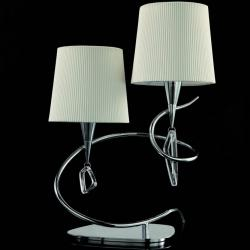 Mara Table Lamp Doble 51cm 2xE14 20w Chrome/white