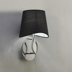 Mara Wall Lamp 15cm E14 20w Chrome Black
