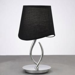 Mara Table Lamp 37cm E14 20w Chrome/Black