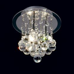Mantra Glass ceiling lamp ø14cm G9 3x40w Glass Chrome
