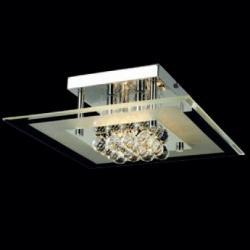 Mantra Glass ceiling lamp Square 36cm G9 4x40w Glass Chrome