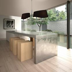 Mara Pendant Lamp linear Doble 4xE14 20w Chrome/Black