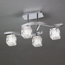 Cuadrax Lámpara SemiPlafón Cromo 4L