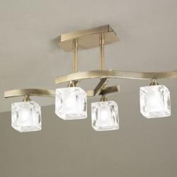Cuadrax Lâmpada Semilâmpada do teto couro/Optico 4L