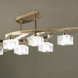 Cuadrax Lâmpada Semilâmpada do teto couro/Optico 8L
