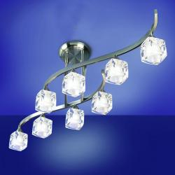 Cuadrax Lampe Semideckeleuchte Nickel Satin/Optico 8L
