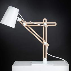 Looker Table Lamp 1L 1x15w E27 white/Wood