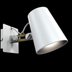 Looker Wall Lamp to arm 1L 1x15w E27 white/Wood