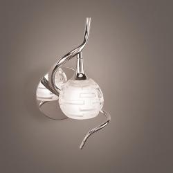 Dali Wall Lamp bright chrome 1L