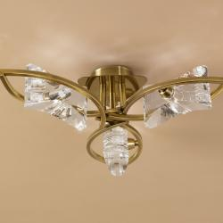 Krom ceiling lamp leather 3L