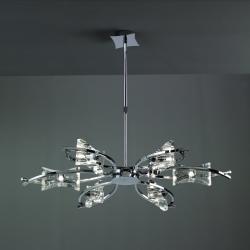 Krom Pendant Lamp Chrome 6L