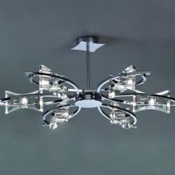 Krom Lâmpada Semilâmpada do teto Cromo 6L