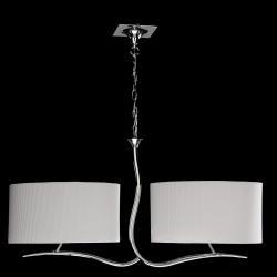 Eve Pendant Lamp Chrome/Cream 4L