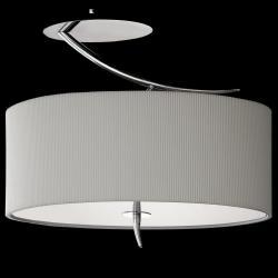 Eve Lampe Semiplafonnier Chrome/Crème 2L