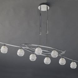 Loop Pendant Lamp 8L 8 x max 33w G9 Eco (OSRAM) Chrome