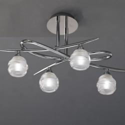 Loop ceiling lamp 4 x max 33w G9 Eco (OSRAM) Chrome