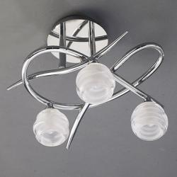 Loop ceiling lamp 3 x max 33w G9 Eco (OSRAM) Chrome