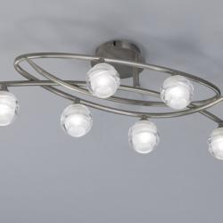 Loop ceiling lamp 6L 6 x max 33w G9 Eco (OSRAM) Nickel Satin