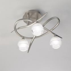 Loop ceiling lamp 3 x max 33w G9 Eco (OSRAM) Nickel Satin
