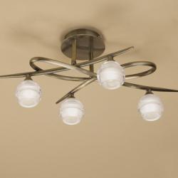 Loop ceiling lamp 4 x max 33w G9 Eco (OSRAM) CUERO