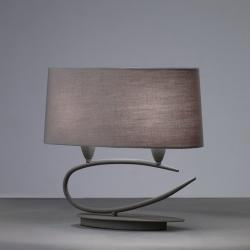 Mantra Table Lamp 2L Grey Ceniza 2x13w E27