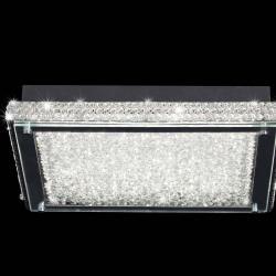 Mantra Glass LED ceiling lamp Square Medium 40 Cm LED 1x21W Glass/Chrome