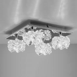 Artic ceiling lamp 4L Square 5xG9 33w Chrome