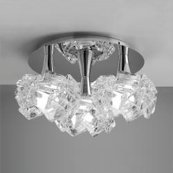 Artic ceiling lamp 3L 3xE27 23w Chrome