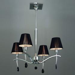 Viena Pendelleuchte Telescópica 4xE14 40w lampenschirme Chrom