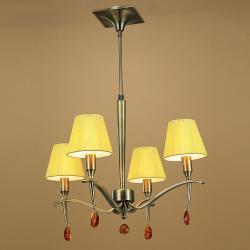 Viena Pendelleuchte Telescópica 4xE14 40w lampenschirme leder