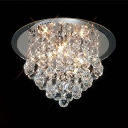 Mantra Glass ceiling lamp ø50cm G9 6x40w Glass Chrome