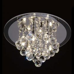 Mantra Glass ceiling lamp ø30cm G9 4x40w Glass Chrome