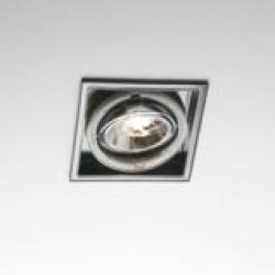 Sqaxis 13.1 Empotrable QPAR16 GU10 50w negro Transparente