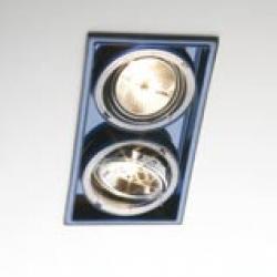 Sqaxis 13.2 Empotrable Doble 2xQPAR16 GU10 50w negro Azul