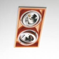 Sqaxis 13.2 Empotrable Doble 2xQPAR16 GU10 50w blanco Naranja