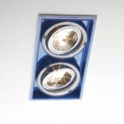 Sqaxis 13.2 Empotrable Doble 2xQPAR16 GU10 50w blanco Azul