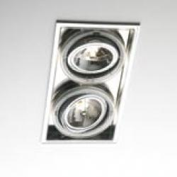 Sqaxis 13.2 Empotrable Doble 2xQPAR16 GU10 50w Cromo Transparente