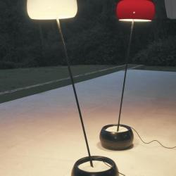 Duna lámpara de Pie blanca