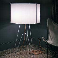 3x3 lámpara de Pie Grande blanco