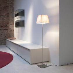 Cotton lámpara de Pie R 130cm Cromo mate