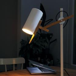 Scantling Lampe de table pierre Grise