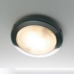 Zero Plafón Fluorescente gris Plata