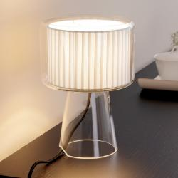 Mercer Mini table lamp cotton ribbon Off-white