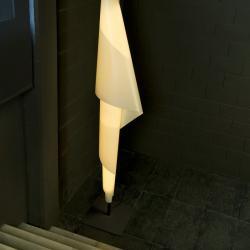 Alta costura F lámpara de Pie G13 2x30W negro