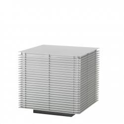 Dojo Gr Sobremuro Exterior 55x55cm E27 2x20W Anodizado Plata