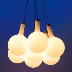 Nanit t7 Lámpara Colgante Florón y grupo eléctrico sin difusor E27 7x70W Aluminio blanco
